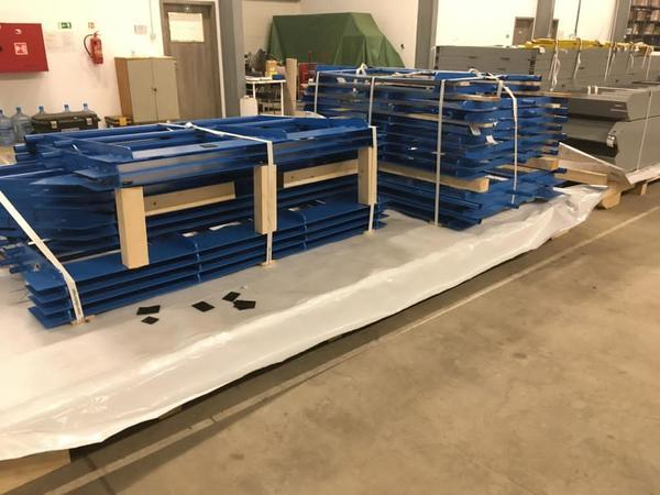 Service platform production from steel structure