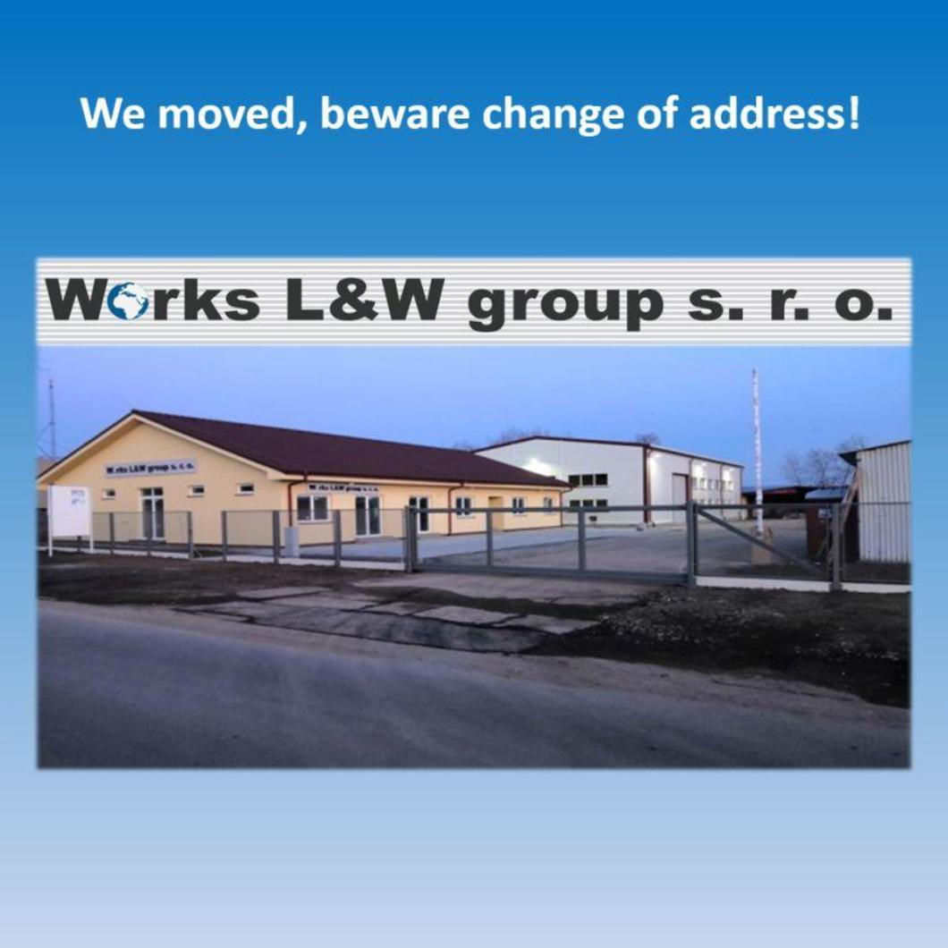 New address of our company
