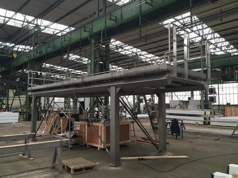 VCES a.s., - production of stainless steel platform and gutter plates